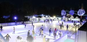 Illuminated night skating at Midtown
